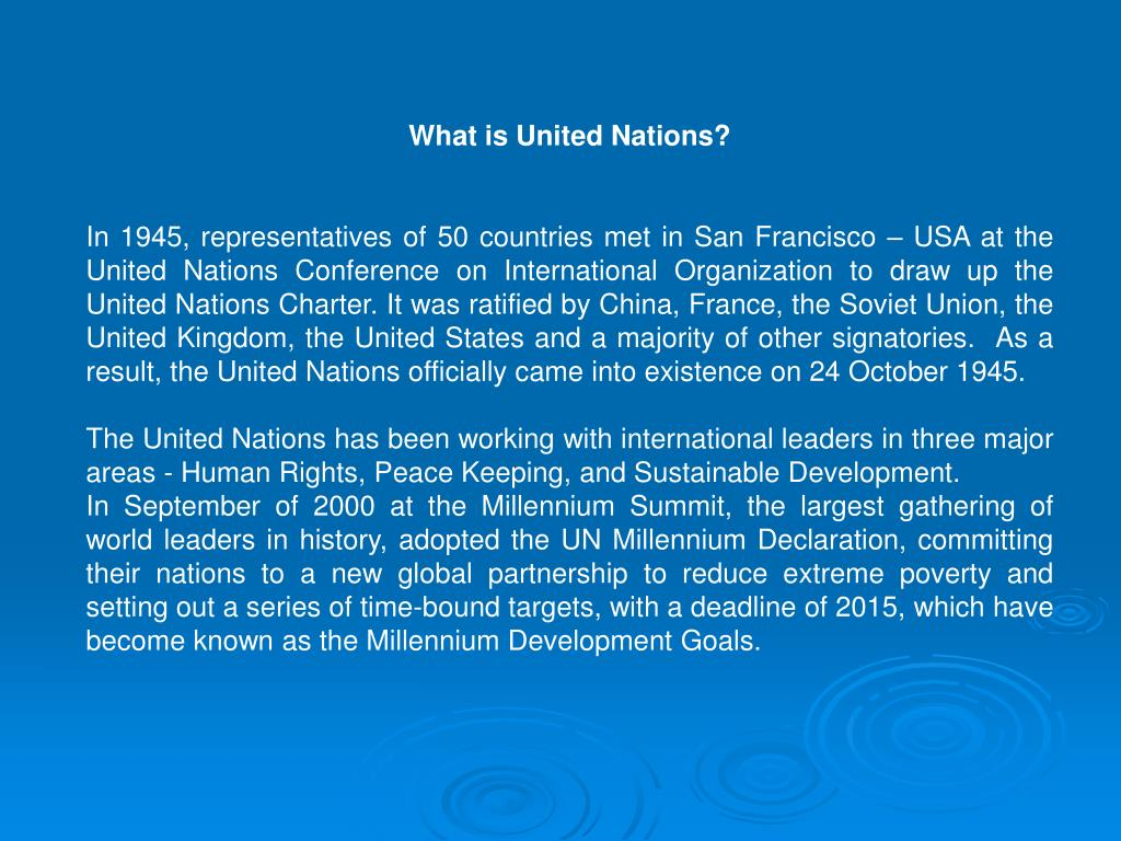 What is United Nations?