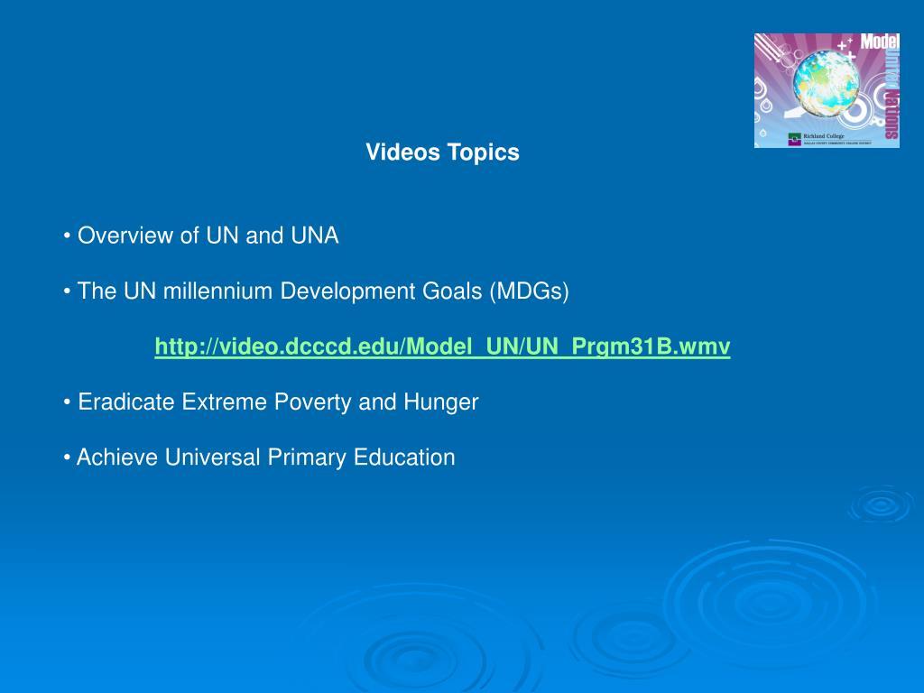 Videos Topics