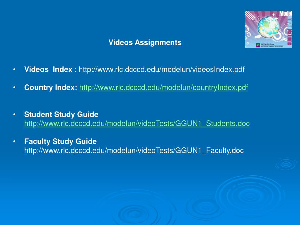 Videos Assignments