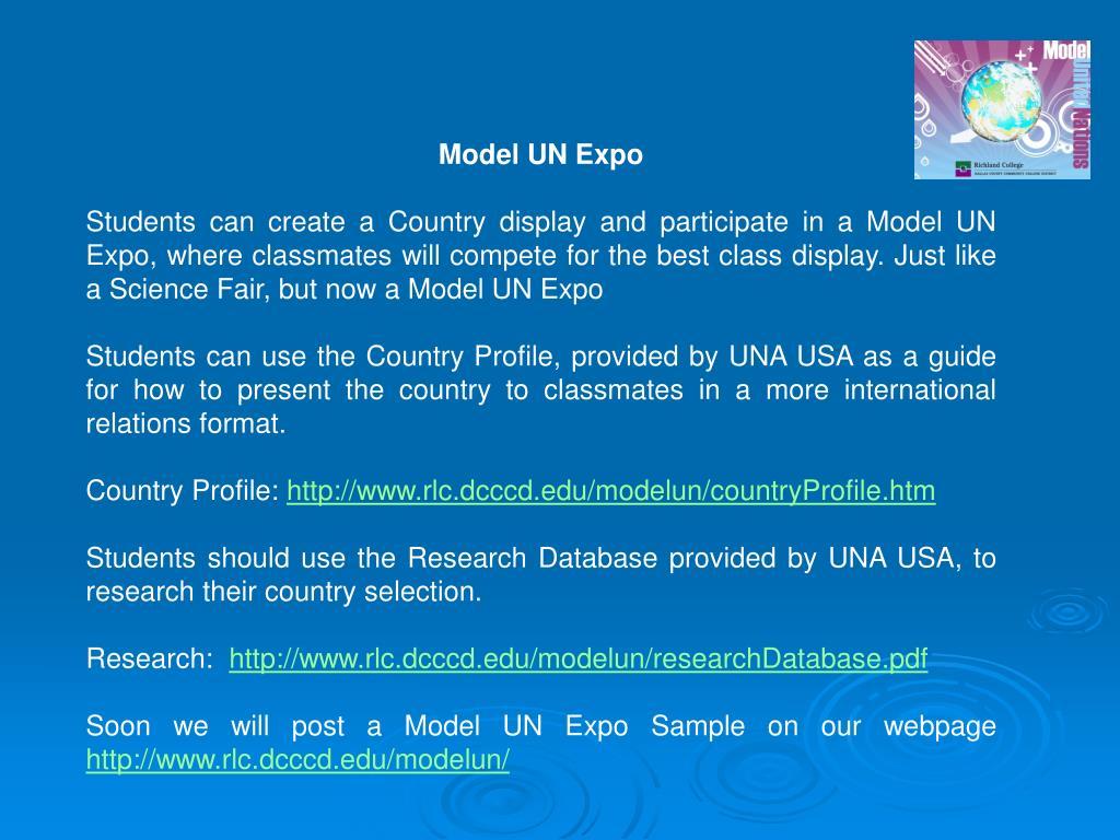 Model UN Expo