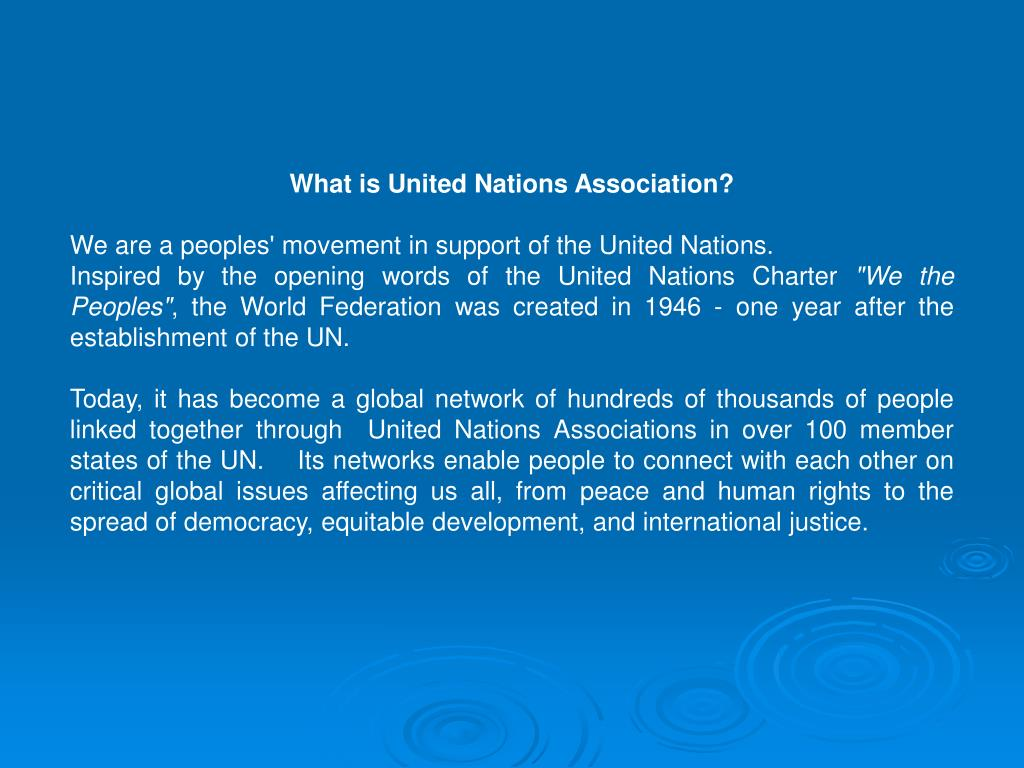 What is United Nations Association?