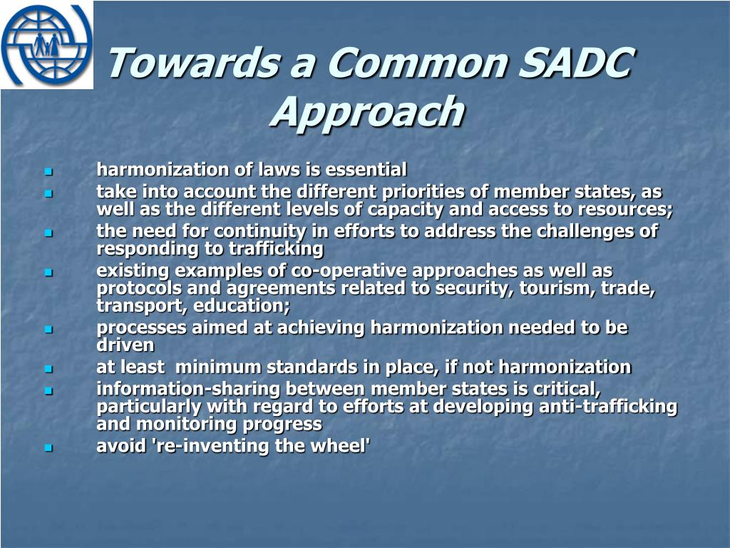 Towards a Common SADC Approach