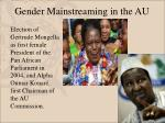 gender mainstreaming in the au11