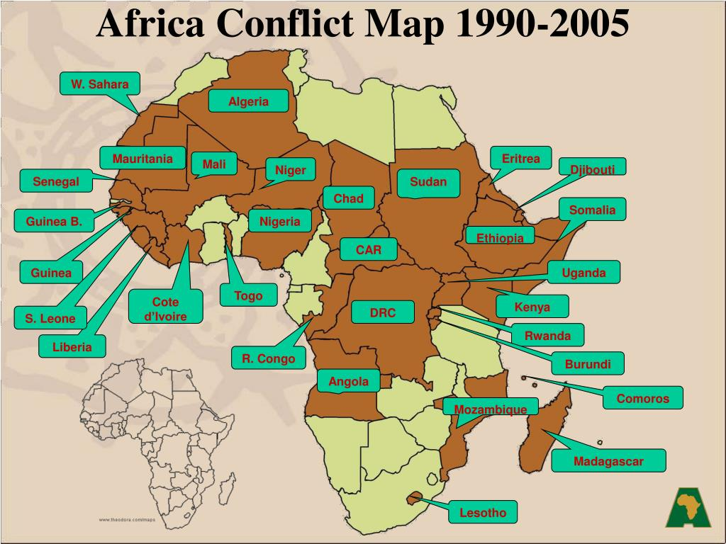 Africa Conflict Map 1990-2005