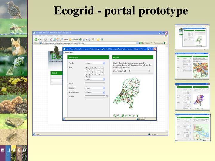 Ecogrid - portal prototype