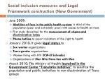 social inclusion measures and legal framework construction new government