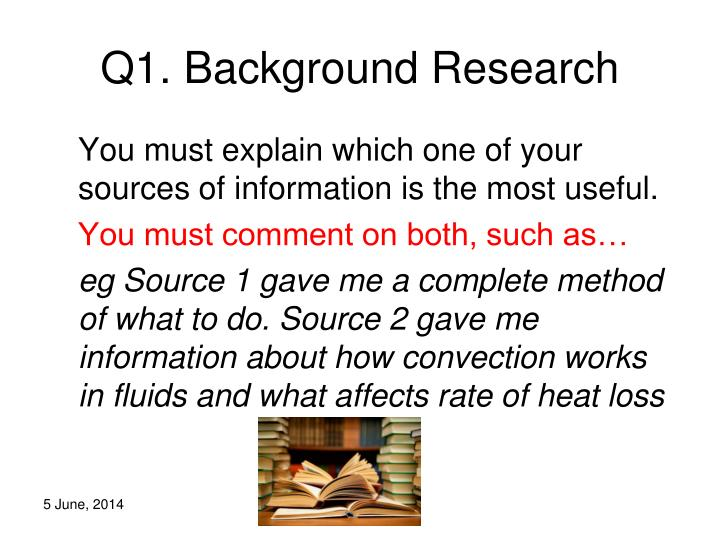 Q1. Background Research