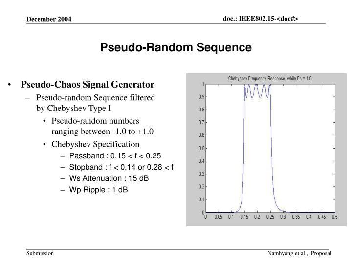 Pseudo-Random Sequence