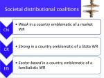 societal distributional coalitions