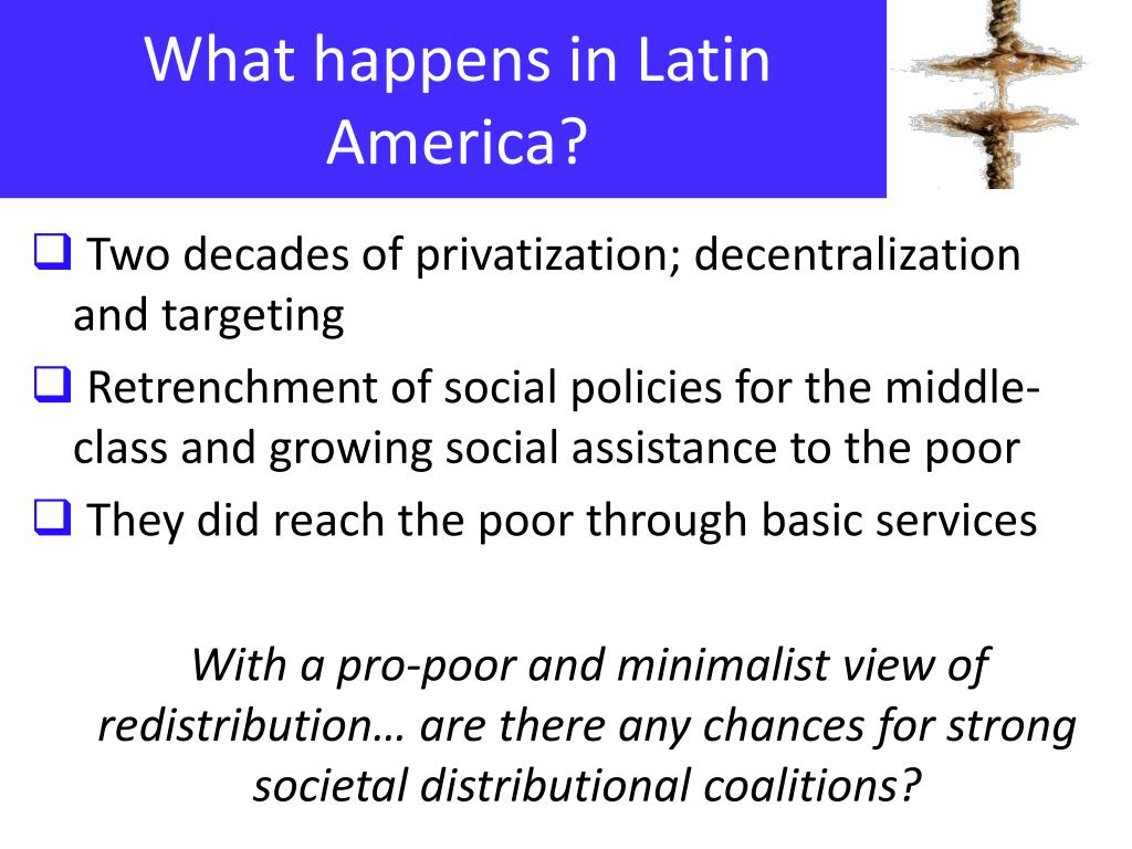 What happens in Latin America?