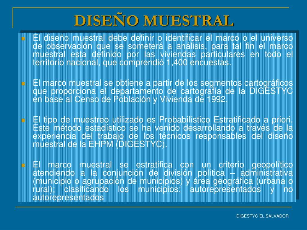 DISEÑO MUESTRAL