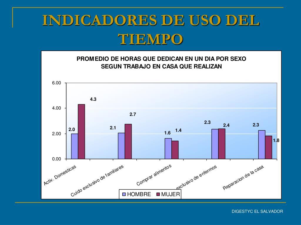 INDICADORES DE USO DEL TIEMPO