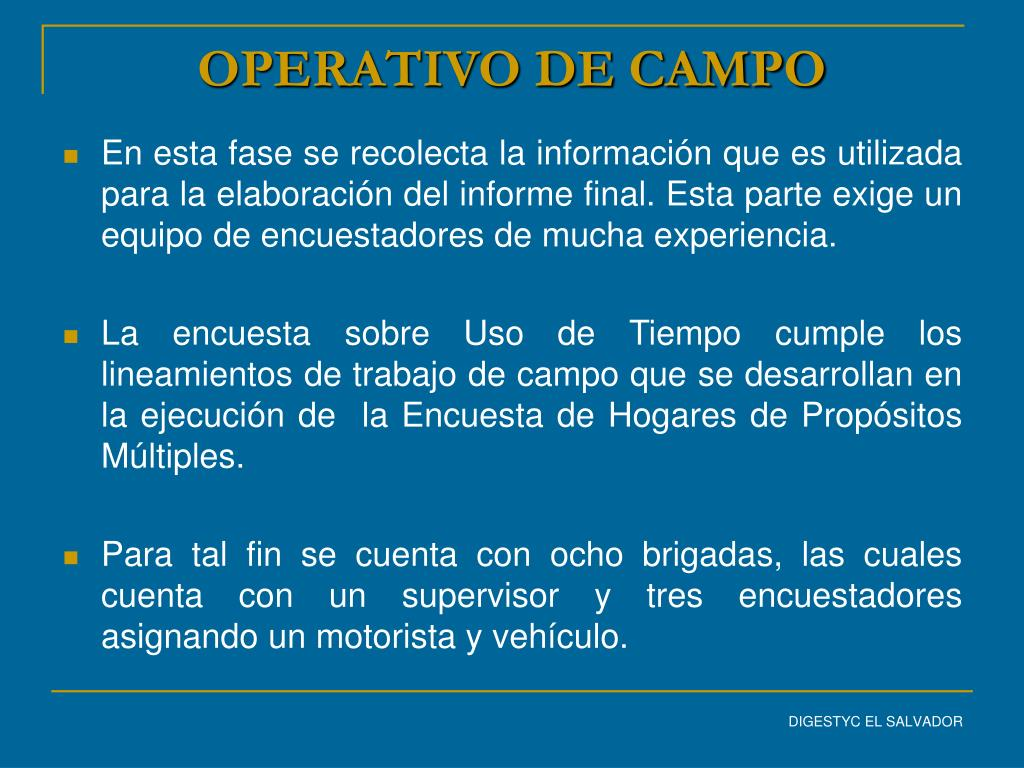OPERATIVO DE CAMPO