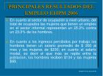 principales resultados del empleo ehpm 2006