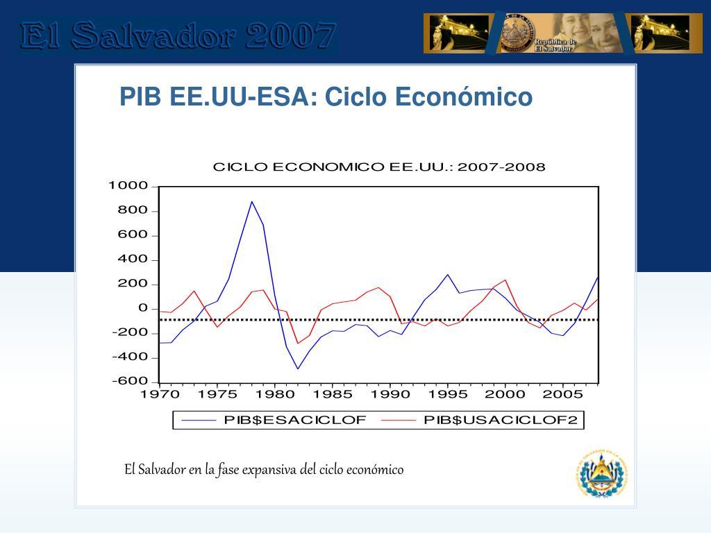 PIB EE.UU-ESA: Ciclo Económico