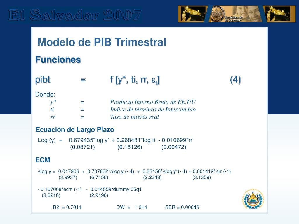 Modelo de PIB Trimestral