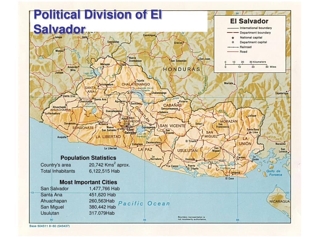 Political Division of El Salvador