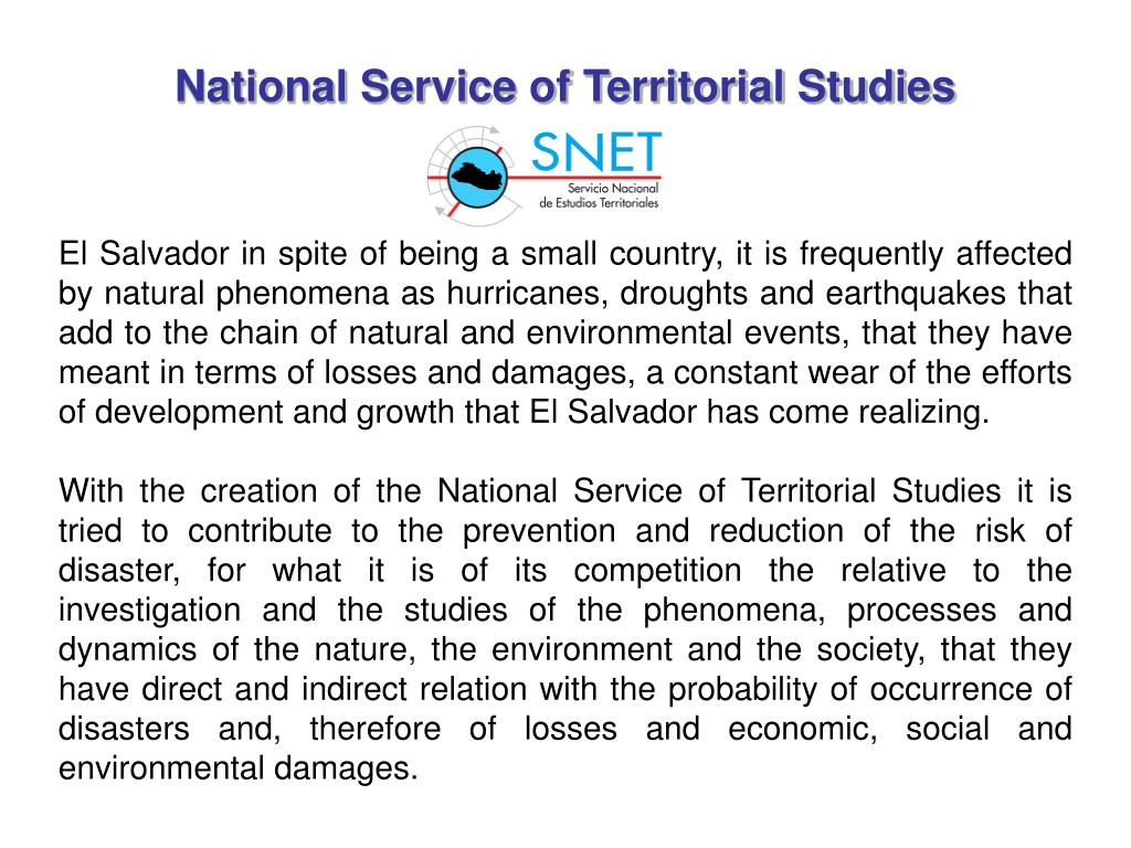 National Service of Territorial Studies