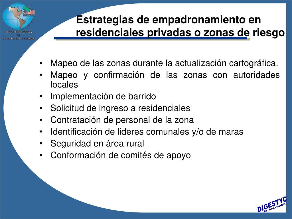 Estrategias de empadronamiento en residenciales privadas o zonas de riesgo