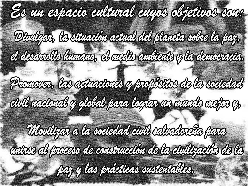 Es un espacio cultural cuyos objetivos son: