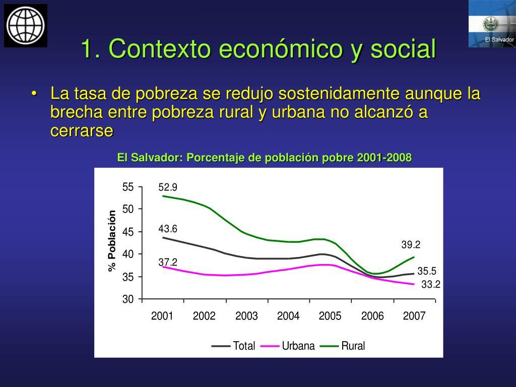 1. Contexto económico y social