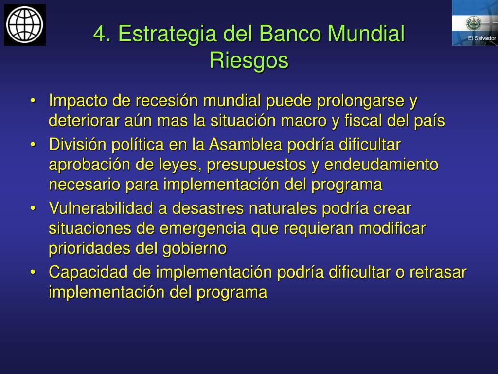 4. Estrategia del Banco Mundial