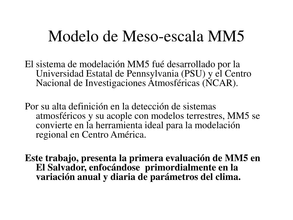 Modelo de Meso-escala MM5