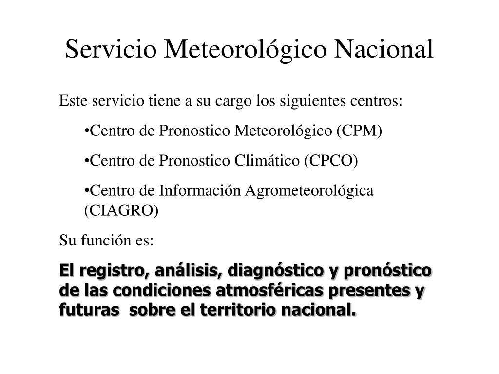 Servicio Meteorológico Nacional