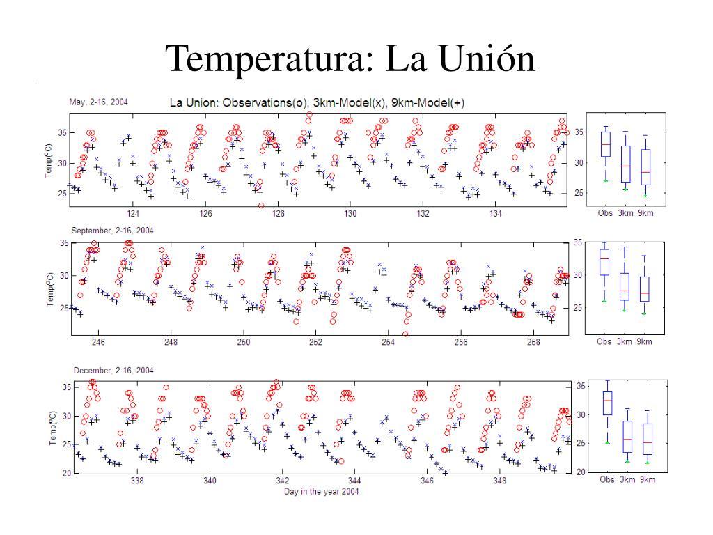 Temperatura: La Unión