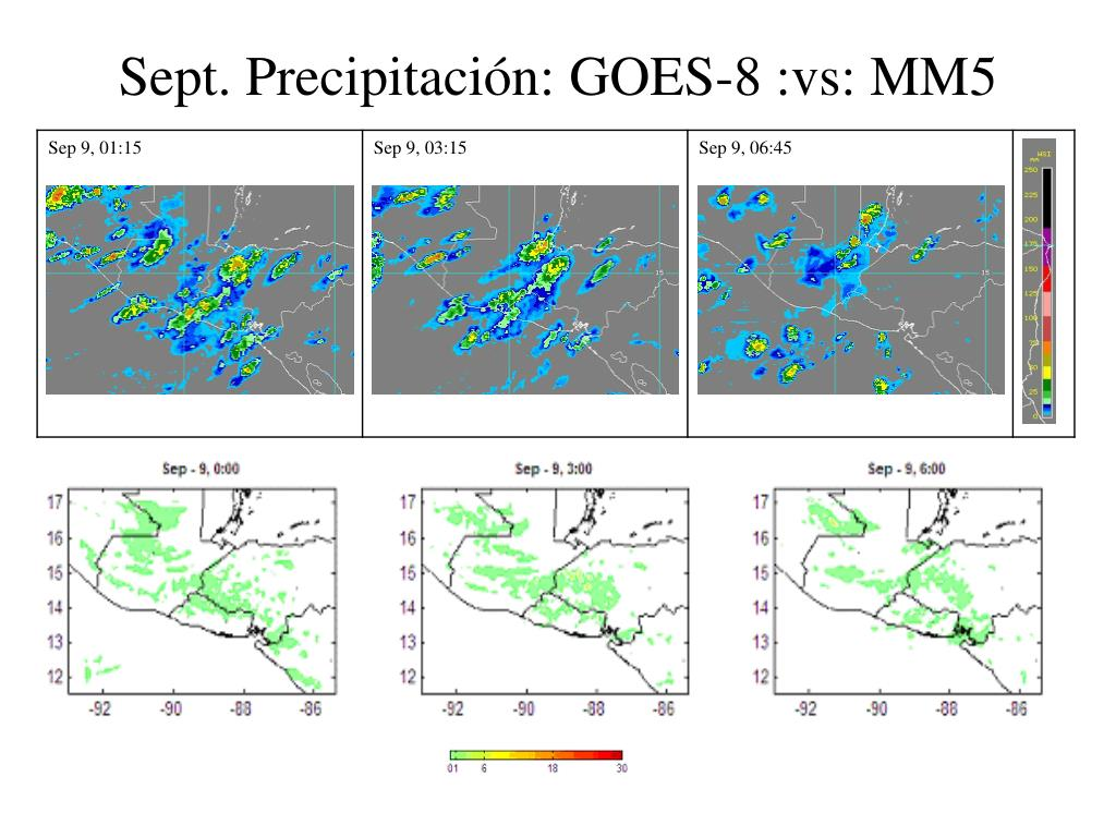 Sept. Precipitación: GOES-8 :vs: MM5