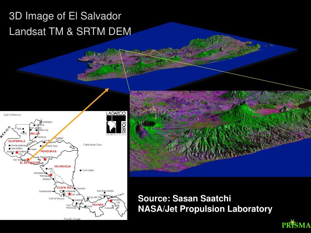 3D Image of El Salvador