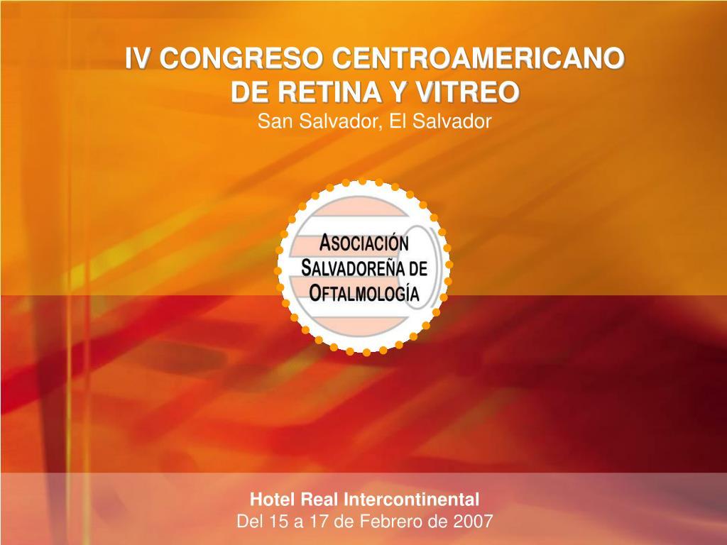 IV CONGRESO CENTROAMERICANO