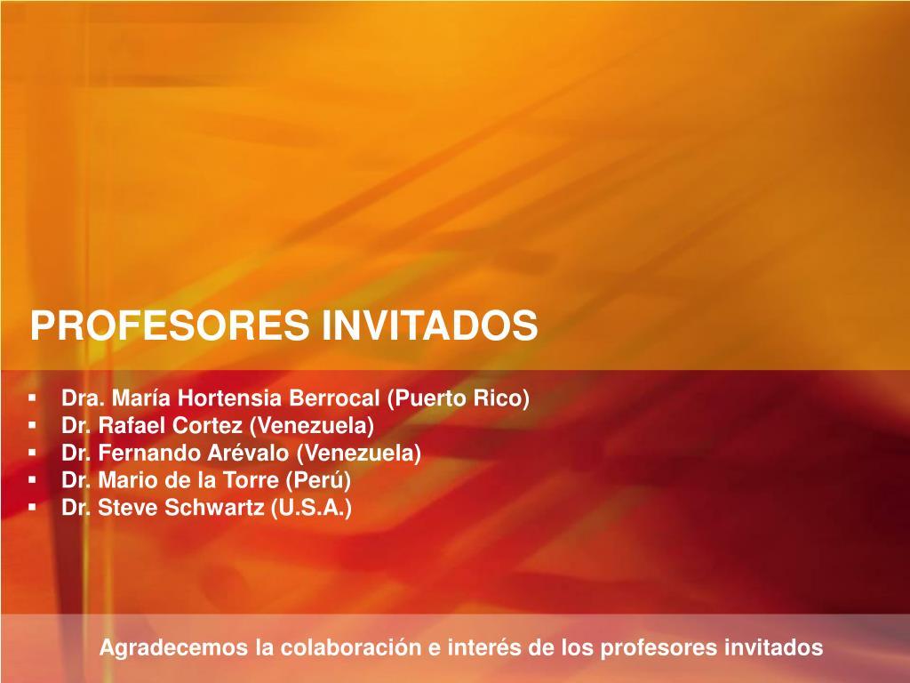 PROFESORES INVITADOS