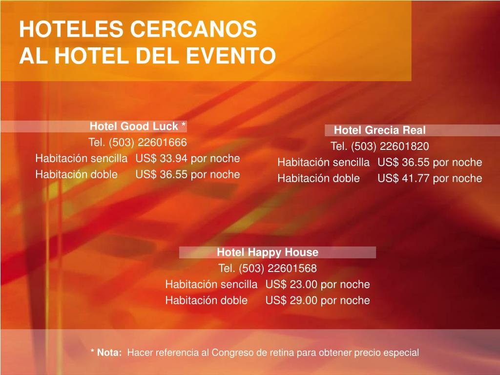 HOTELES CERCANOS
