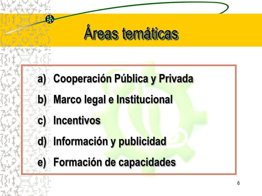 Áreas temáticas