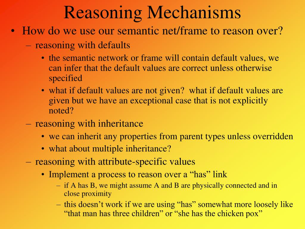 Reasoning Mechanisms