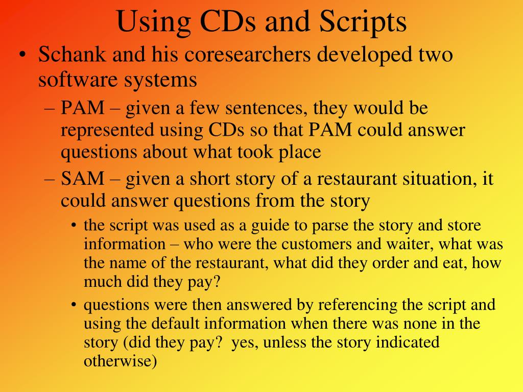 Using CDs and Scripts