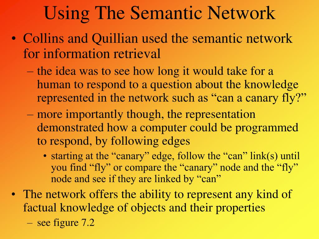 Using The Semantic Network