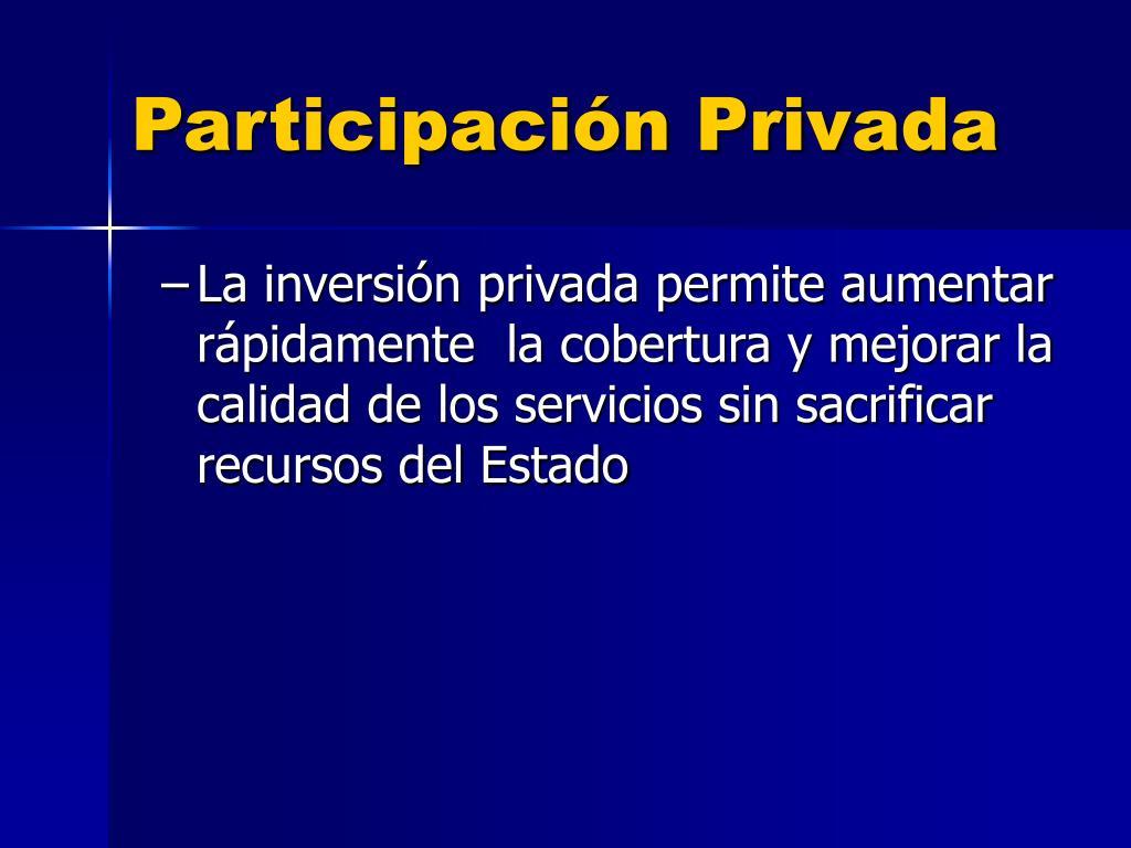 Participación Privada