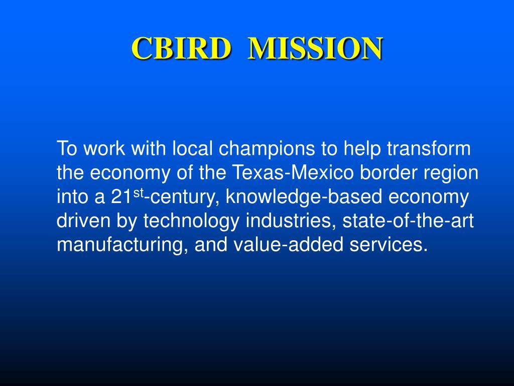CBIRD  MISSION