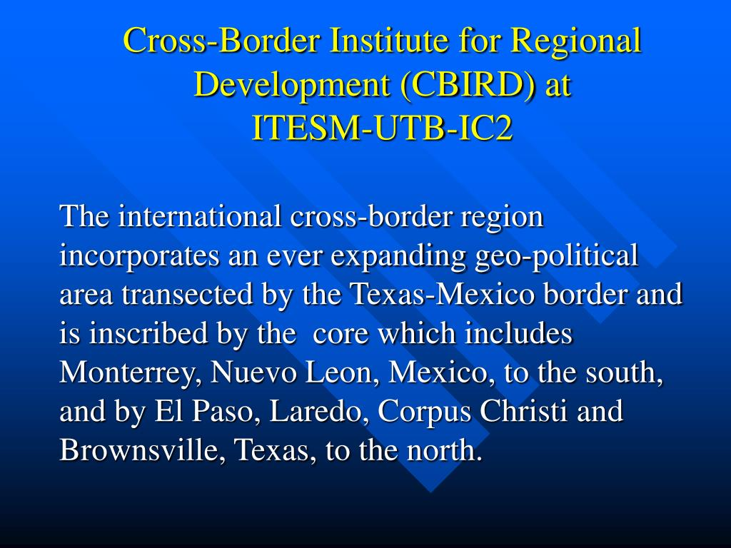 Cross-Border Institute for Regional Development (CBIRD) at