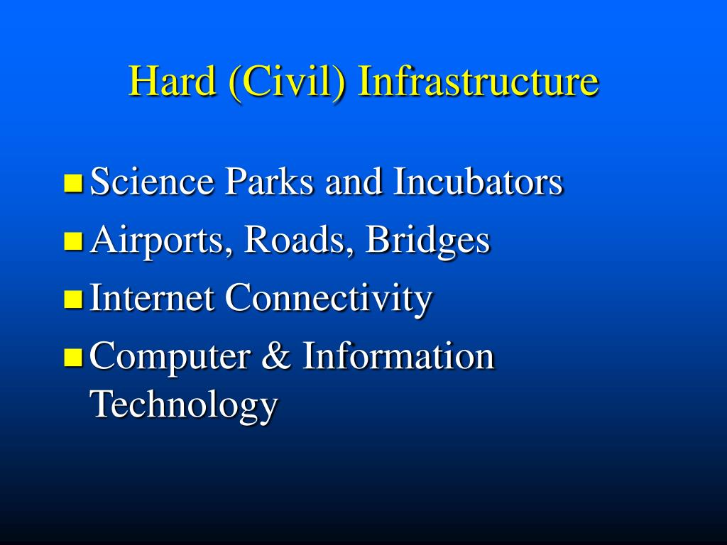 Hard (Civil) Infrastructure