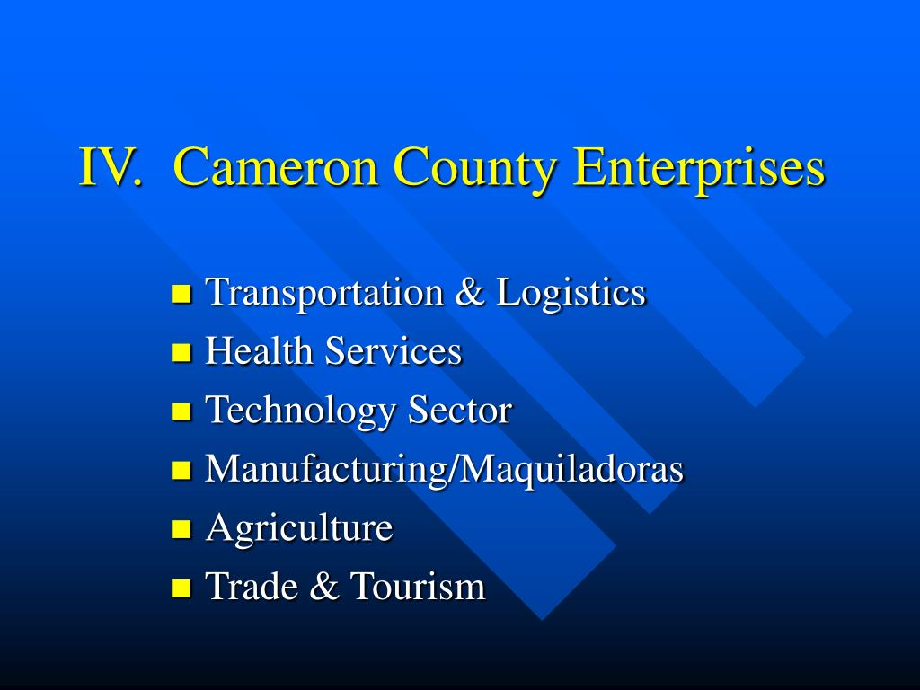 IV.  Cameron County Enterprises