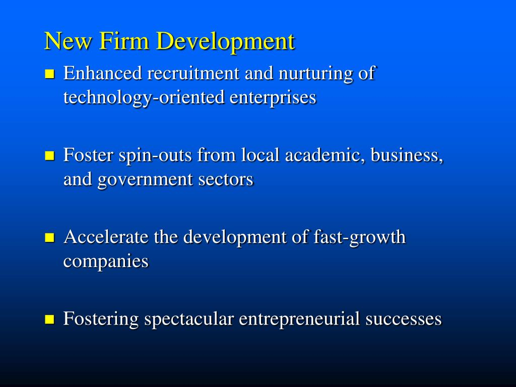 New Firm Development