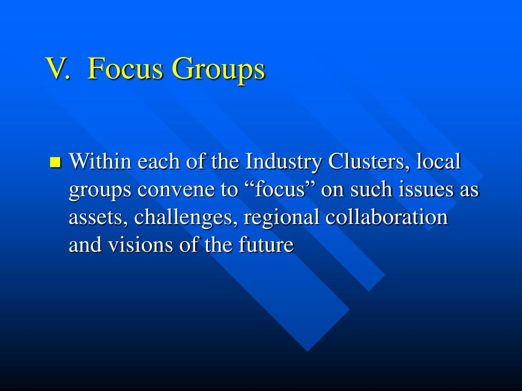 V.  Focus Groups