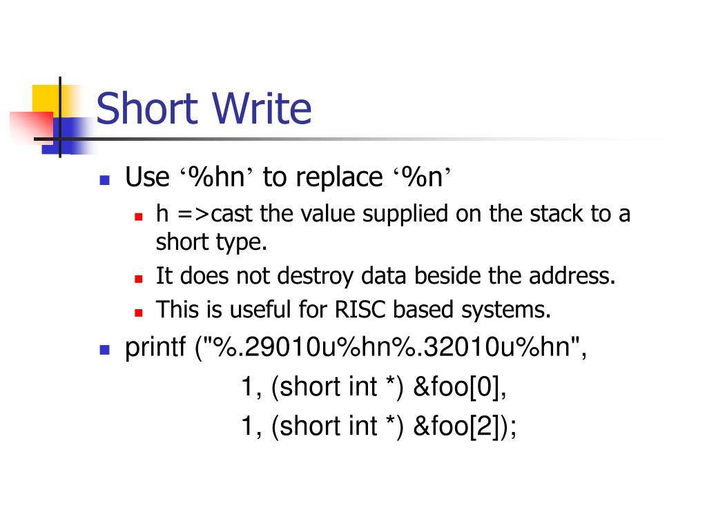 Short Write