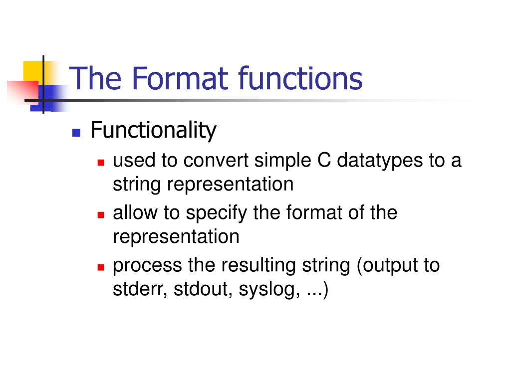 The Format functions