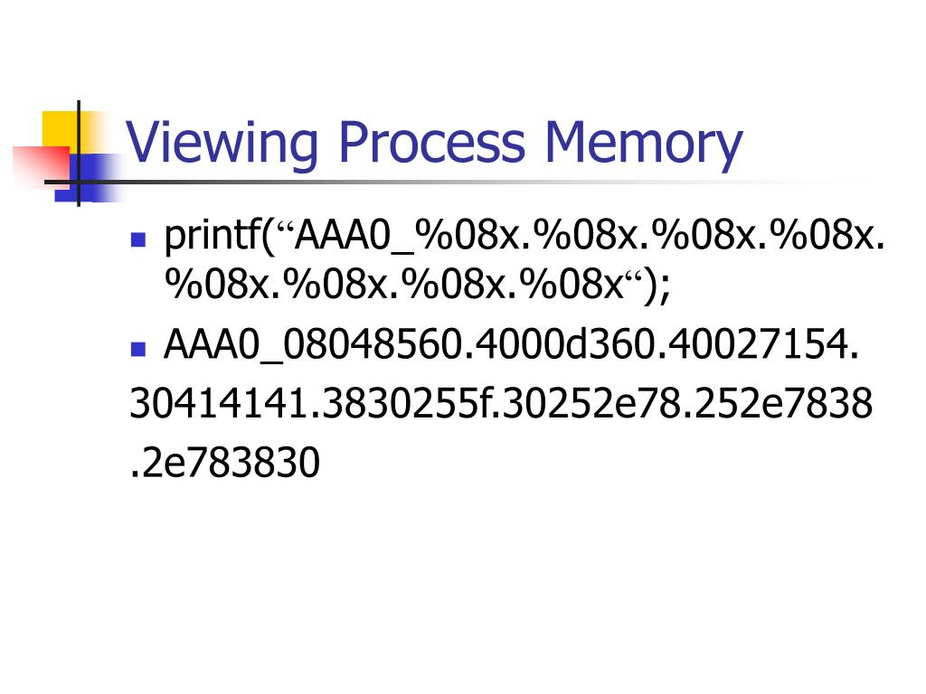 Viewing Process Memory