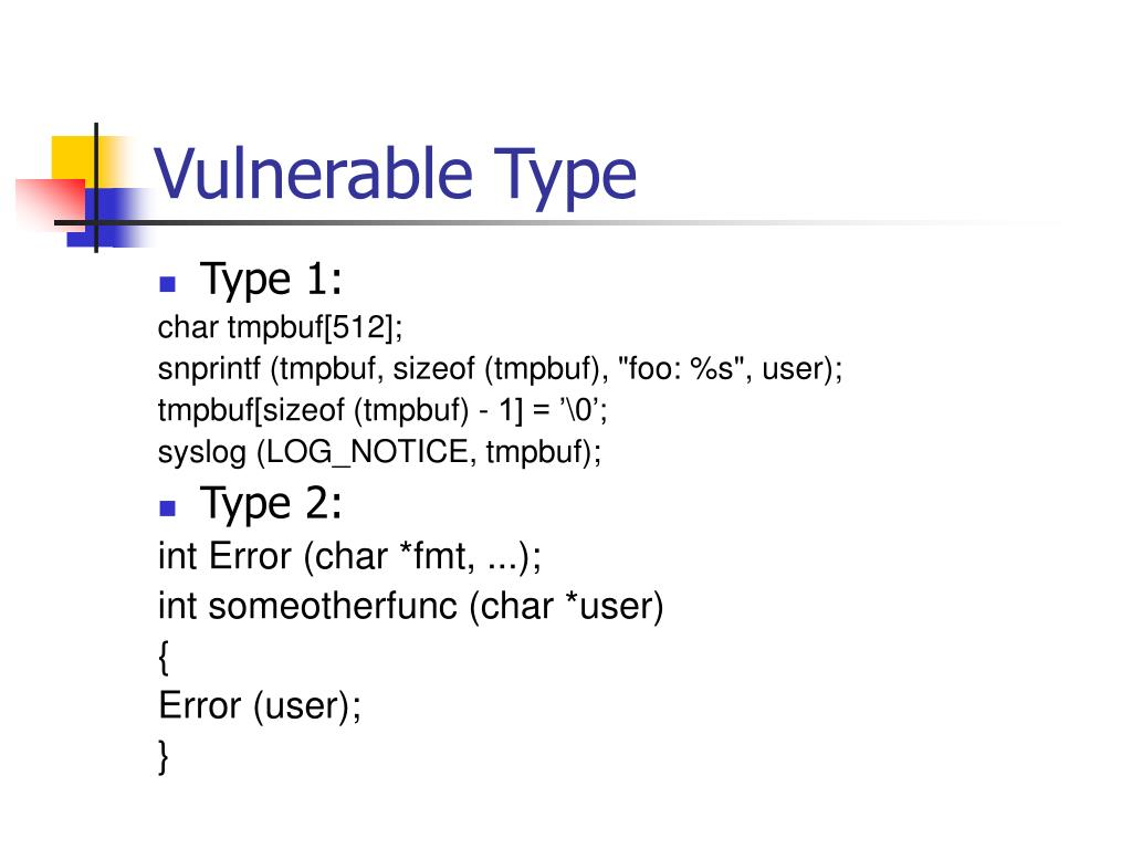 Vulnerable Type