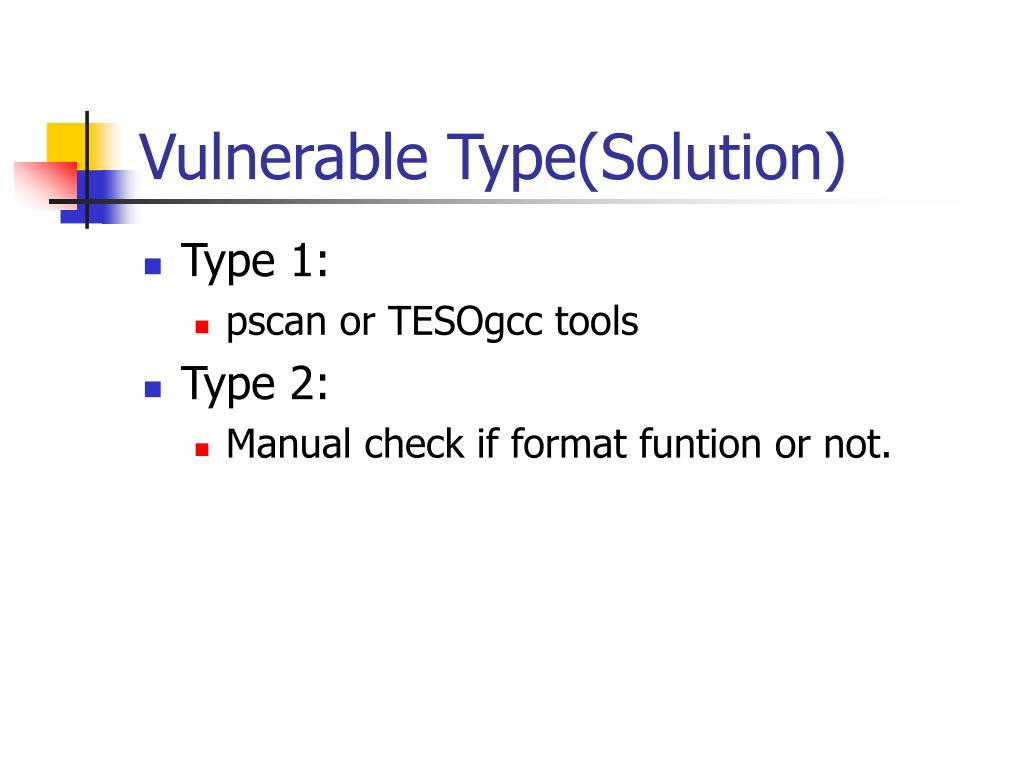 Vulnerable Type(Solution)